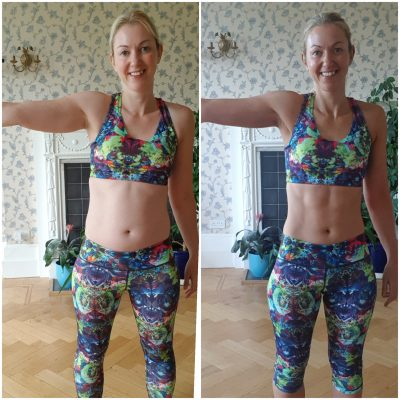 weight loss transformation - arm fat before and after